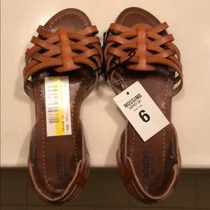 Brown multi-strap sandals